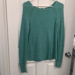 American Eagle light turquoise sweater